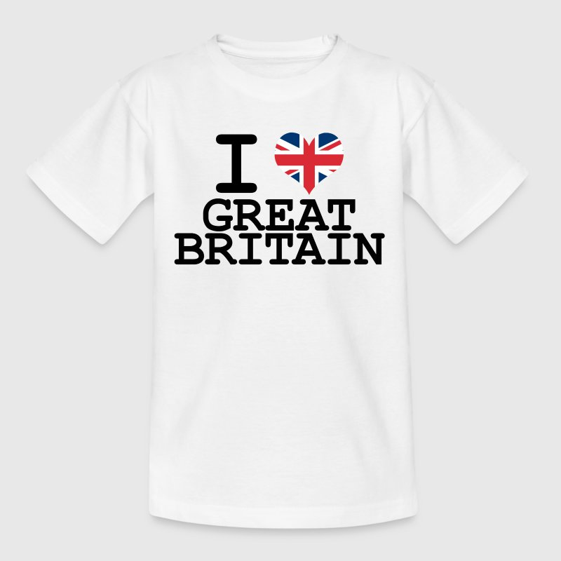 i love Great Britain Kids' Shirts - Teenage T-shirt