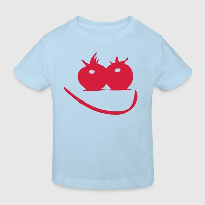 Cute smile face Baby One -piece - Kids' Organic T-shirt
