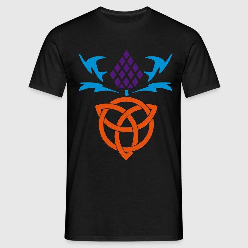 celtic thistle 3 colour vector gaelic design t shirts mens t shirt - Celtic Pictures To Colour