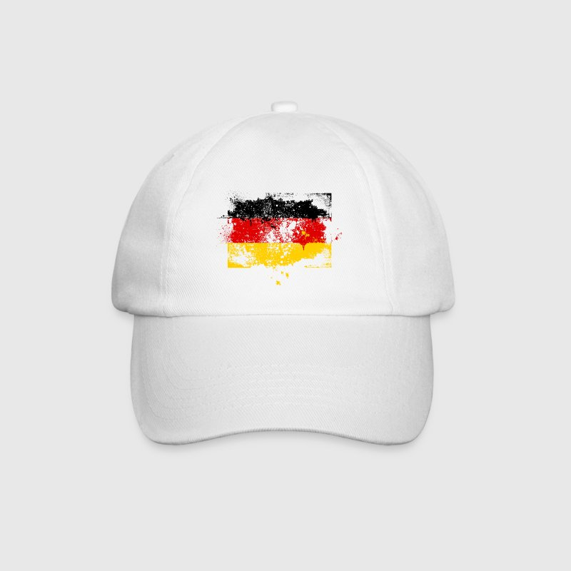 Germany flag banner grunge graffiti style German pride football Caps & Hats - Baseball Cap