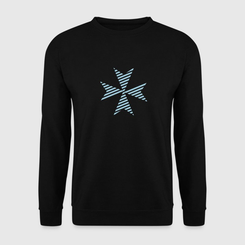 Maltese Cross Black - Männer Pullover