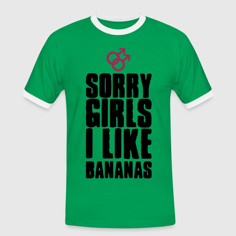 Sorry Girls, I like Bananas T-Shirts - T-shirt contraste Homme