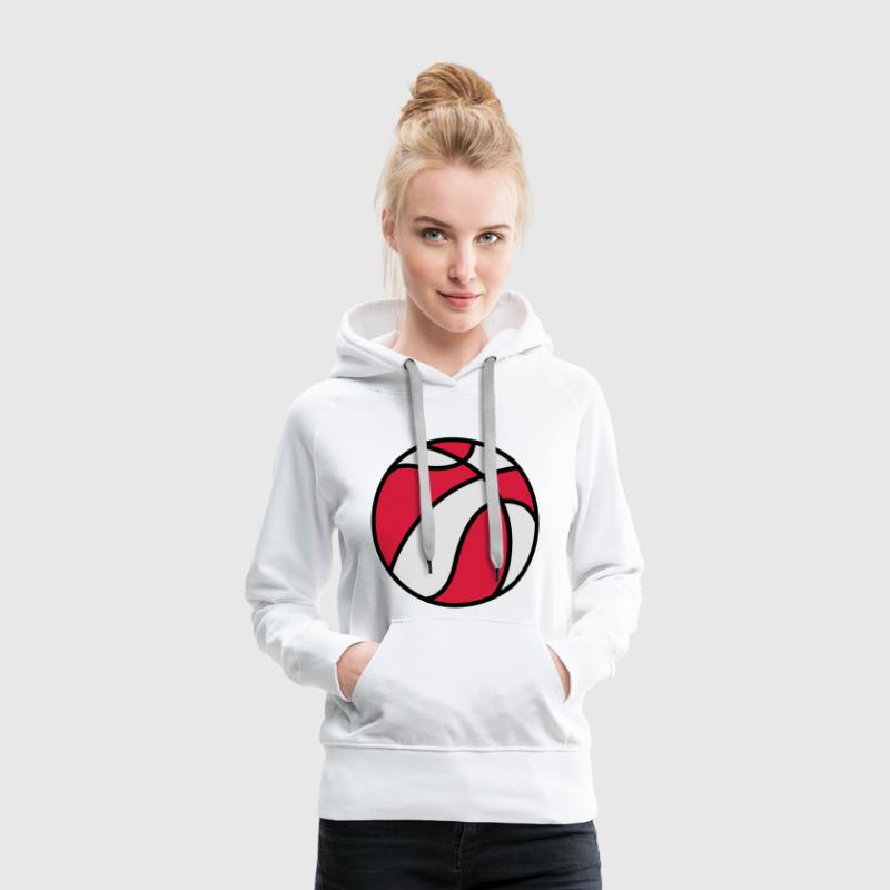 Rad & White Basketball Sweat-shirts - Sweat-shirt à capuche Premium pour femmes