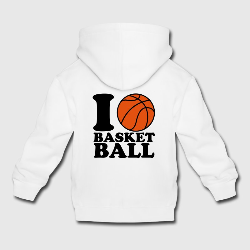 I Love Basketball Kids' Tops - Kids' Premium Hoodie