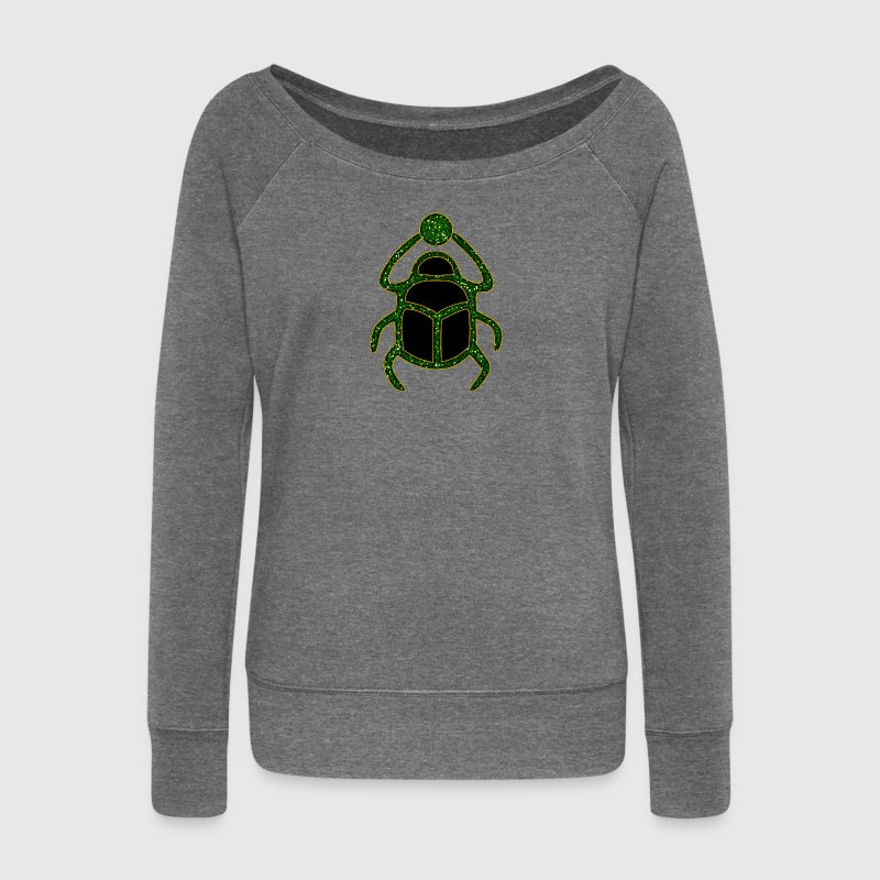 scarabée - Scarab Amulet for Strength & Courage / Protection Amulet, green / Sweat-shirts - Pull Femme col bateau de Bella