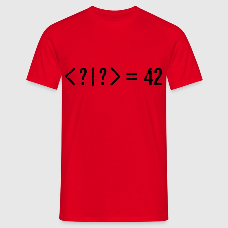 Best Quantum Joke Ever: Bra-Ket = 42 (Grunge) T-Shirts - Men's T-Shirt