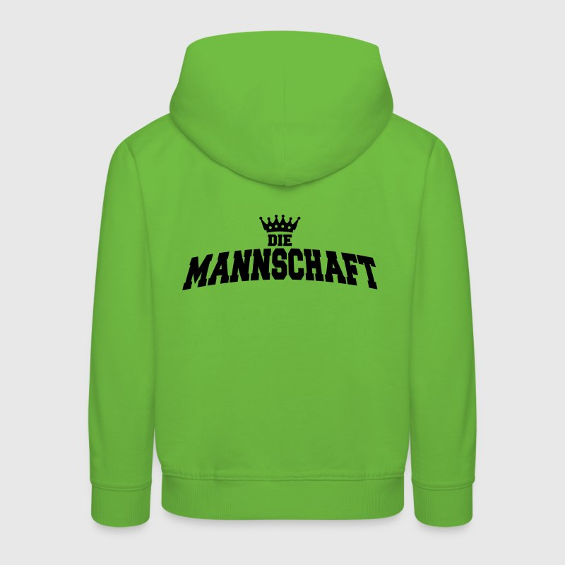 die mannschaft with crown Kinder sweaters - Kinderen trui Premium met capuchon