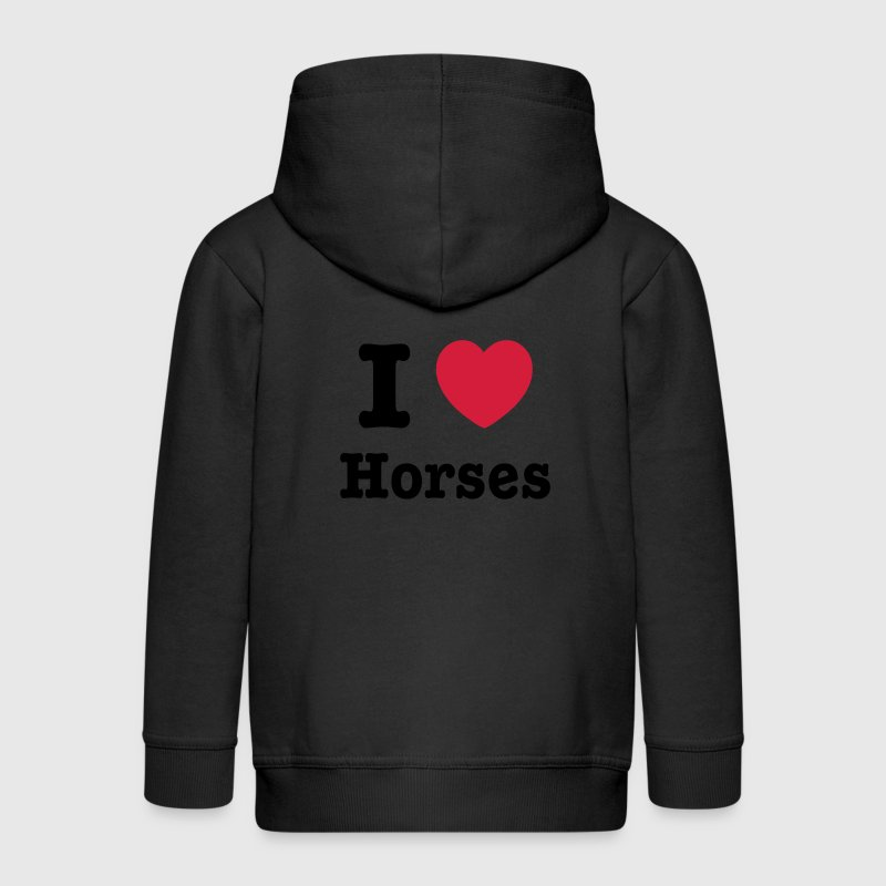 This design lets you change all colours - I love Horses Sweaters - Kinderen Premium jas met capuchon