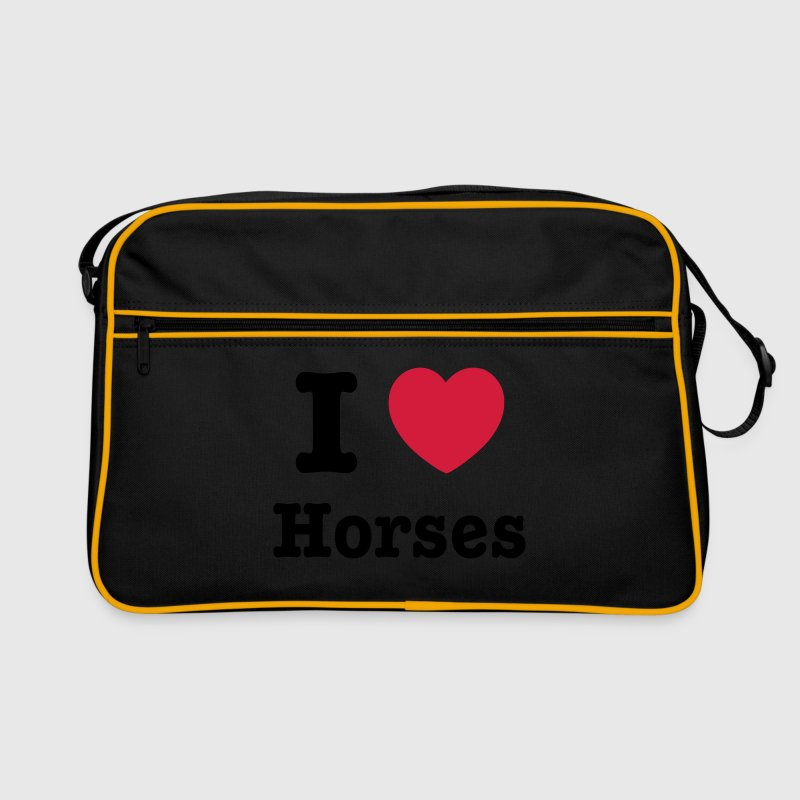 This design lets you change all colours - I love Horses Tassen - Retro-tas