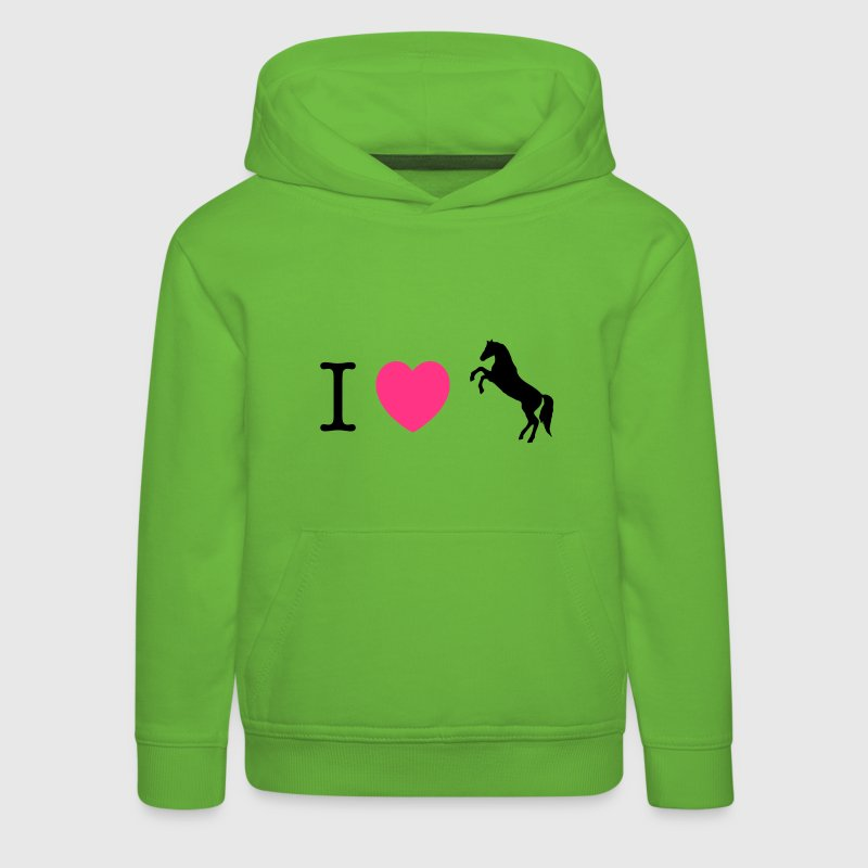 I love Ponies wild horse - this design lets you change all colours Sweatshirts - Premium hættetrøje til børn