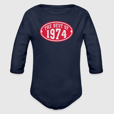 THE BEST OF 1974 2C Birthday Anniversaire Geburtstag T-Shirt - Langærmet babybody, økologisk bomuld