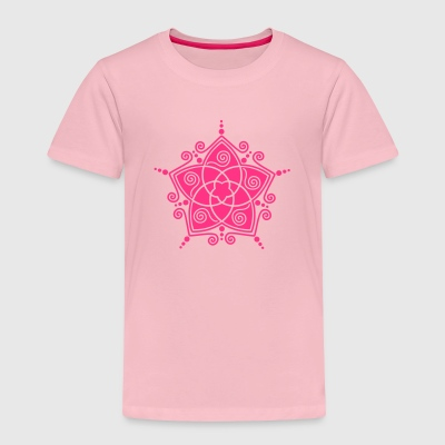 FLOWER OF LOVE - Venus Flower, vector, symbol of l - Kids' Premium T-Shirt