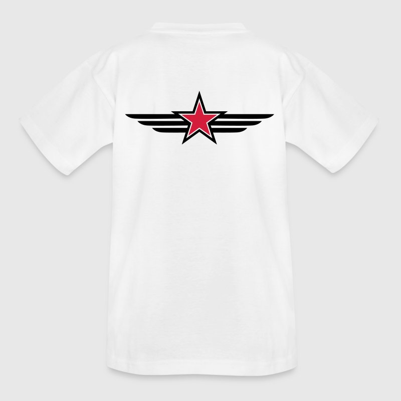 sharp red star black outline with 'wings' Shirts - Kids' T-Shirt