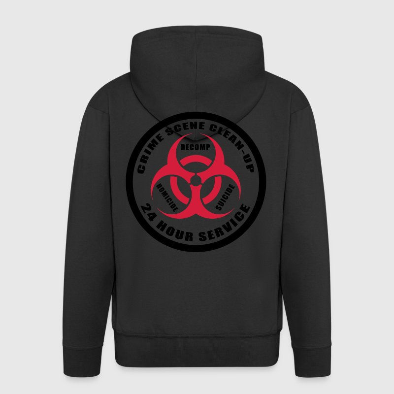 Crime Scene Clean-Up Hoodies & Sweatshirts - Men's Premium Hooded Jacket