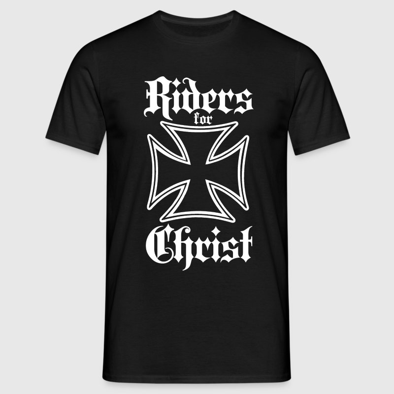 Riders for Christ Iron Cross T-Shirts - Men's T-Shirt