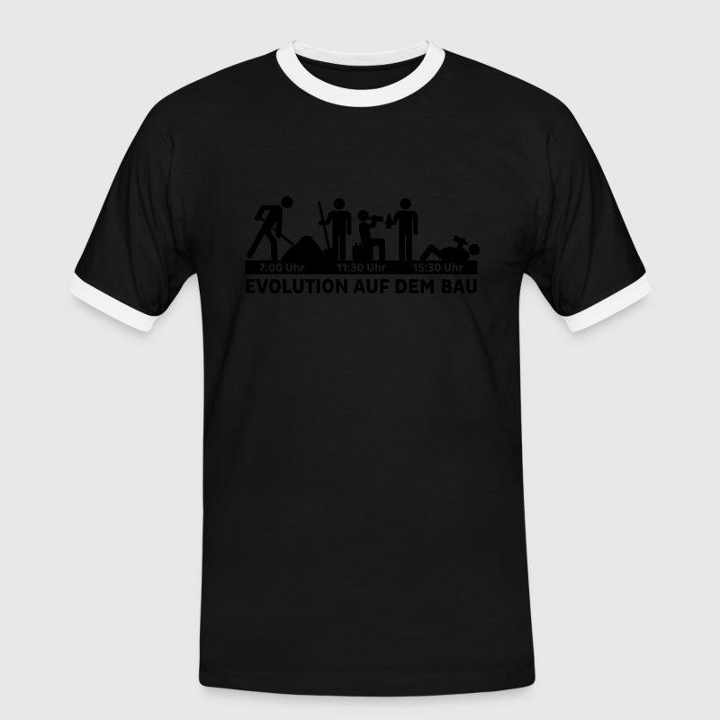 Bauarbeiter schwarz weiß  evolution auf dem bau - arbeit - bauarbeiter - baustelle T-Shirt ...