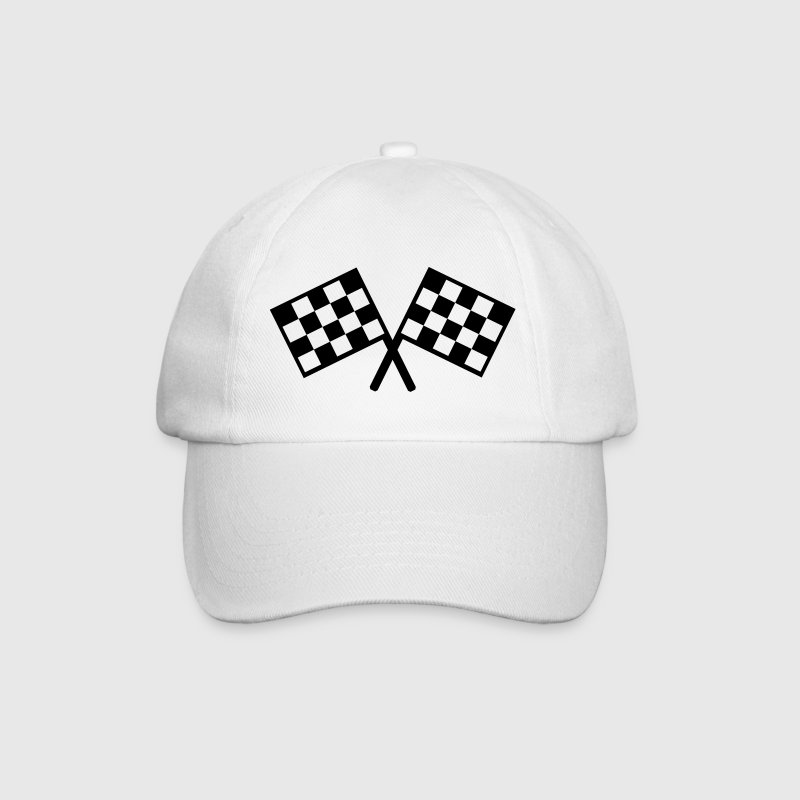 flags - car race Caps & Hats - Baseball Cap