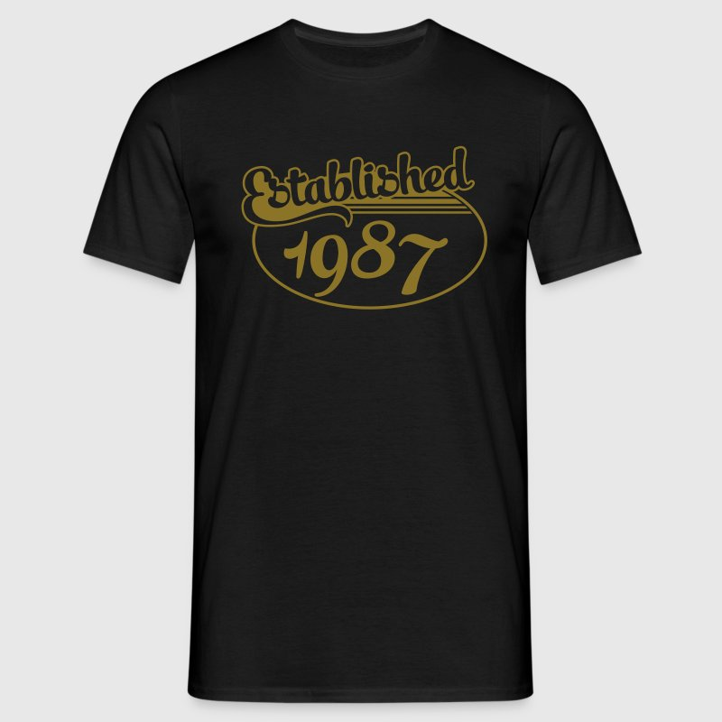 Birthday-Shirt - Geburtstag - Established 1987 (uk) T-Shirts - Men's T-Shirt