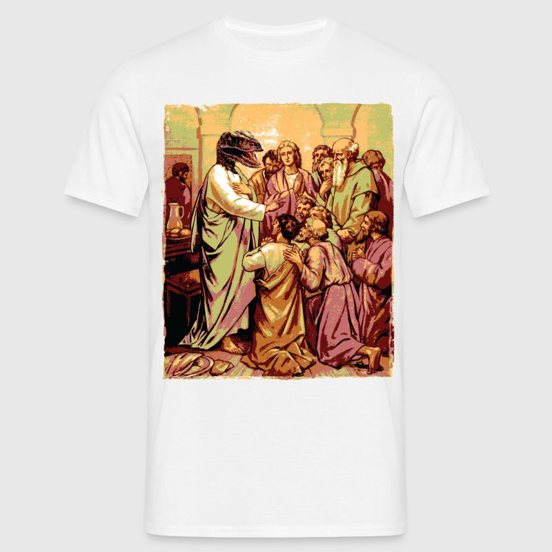 Raptor Jesus T-Shirts - Men's T-Shirt