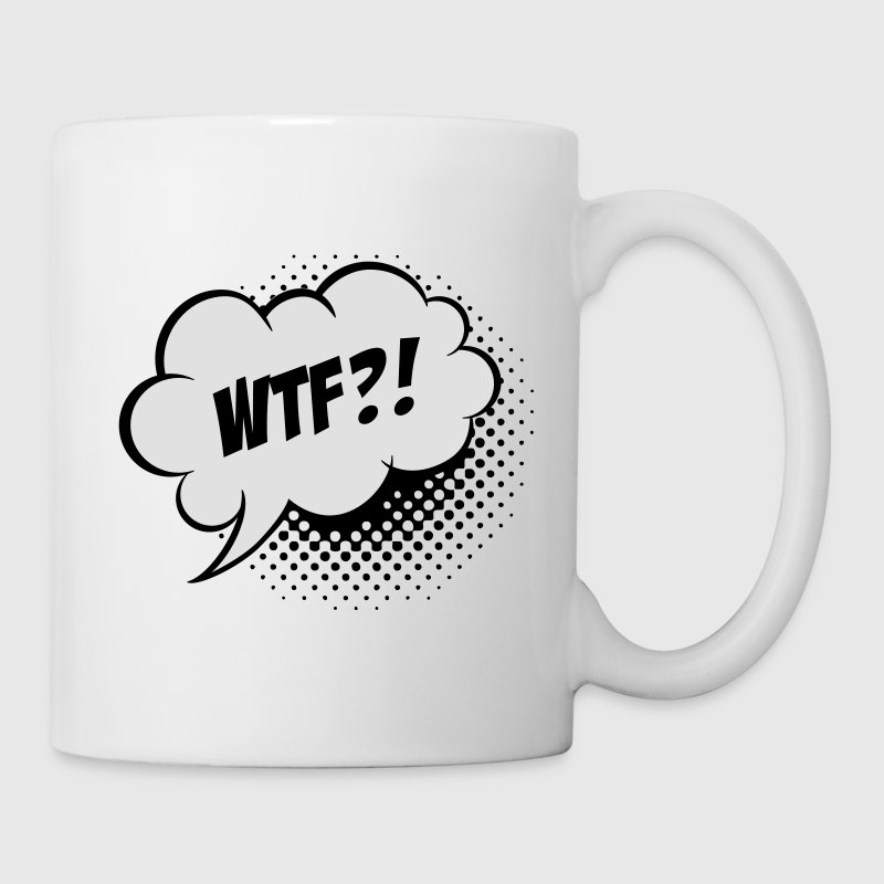 Drôle What the Fuck WTF vintage ballon slogan humour pour anonymous geek bachelor t shirts Bouteilles et tasses - Tasse