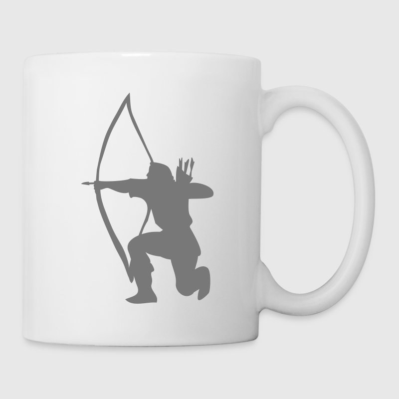 Longbow Archer kneeling stance Bottles & Mugs - Mug