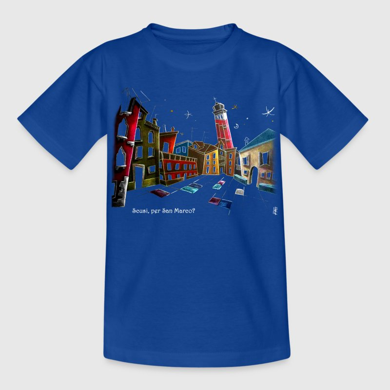 Künstler T-shirt Design Venedig Italien – Kinder Fantasie Illustration - Teenager T-Shirt