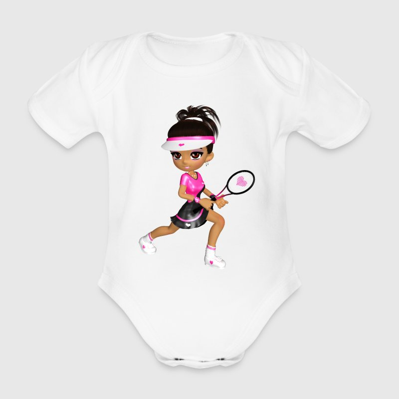 Tennis Girl - Baby Bio-Kurzarm-Body