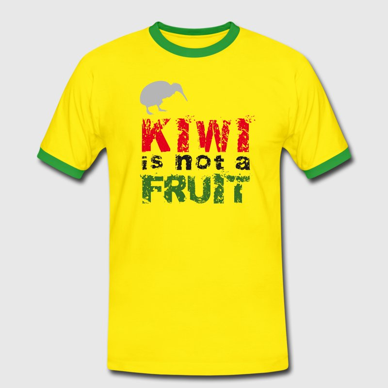 Kiwi is not a fruit // Neuseeland - Männer Kontrast-T-Shirt