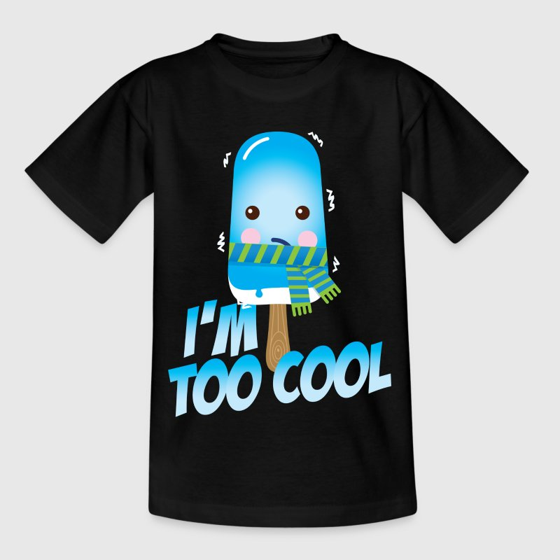 Funny and cute vintage too cool freezing ice cream for cold winter and hot summer t-shirts Kids' Shirts - Kids' T-Shirt