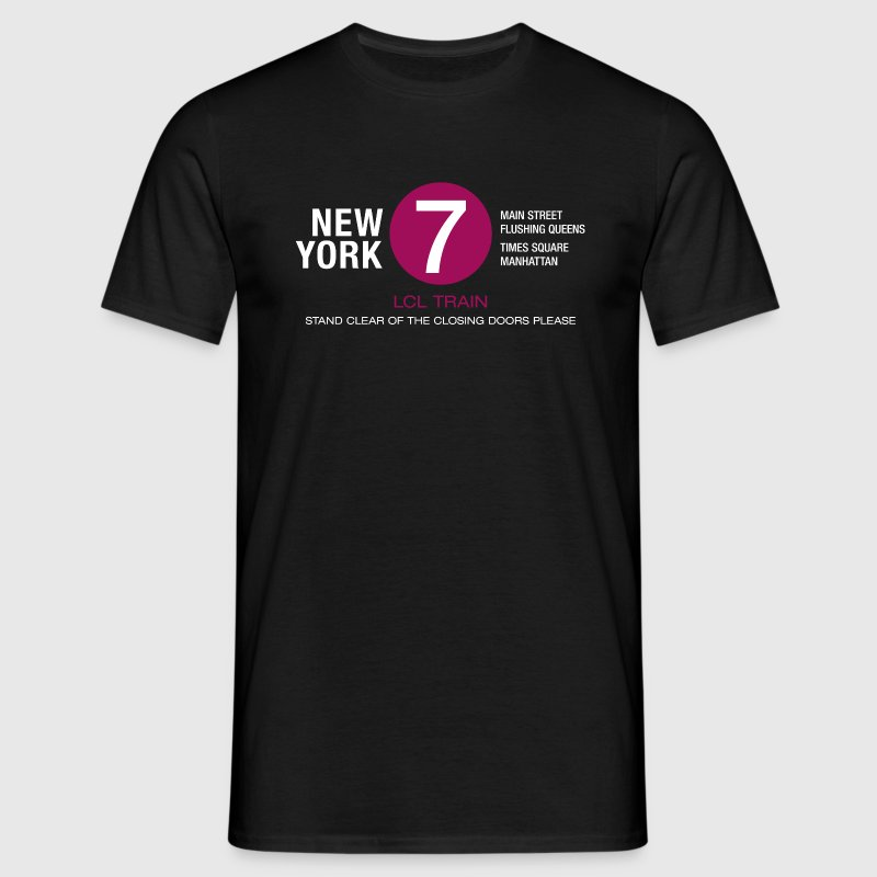 new york city metro 7 train flushing queens times square manhattan T-Shirts - Männer T-Shirt