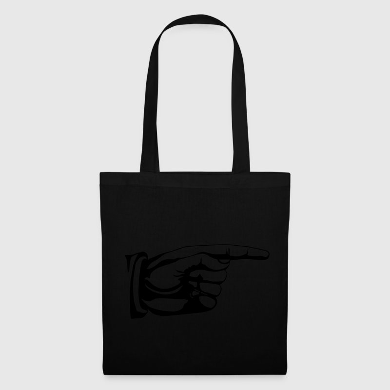 This way old fashioned pointing hand sign Bags  - Tote Bag