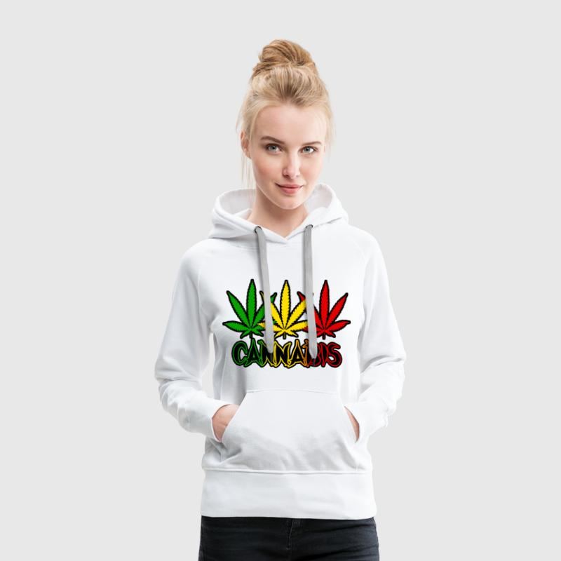 cannabis Sweat-shirts - Sweat-shirt à capuche Premium pour femmes