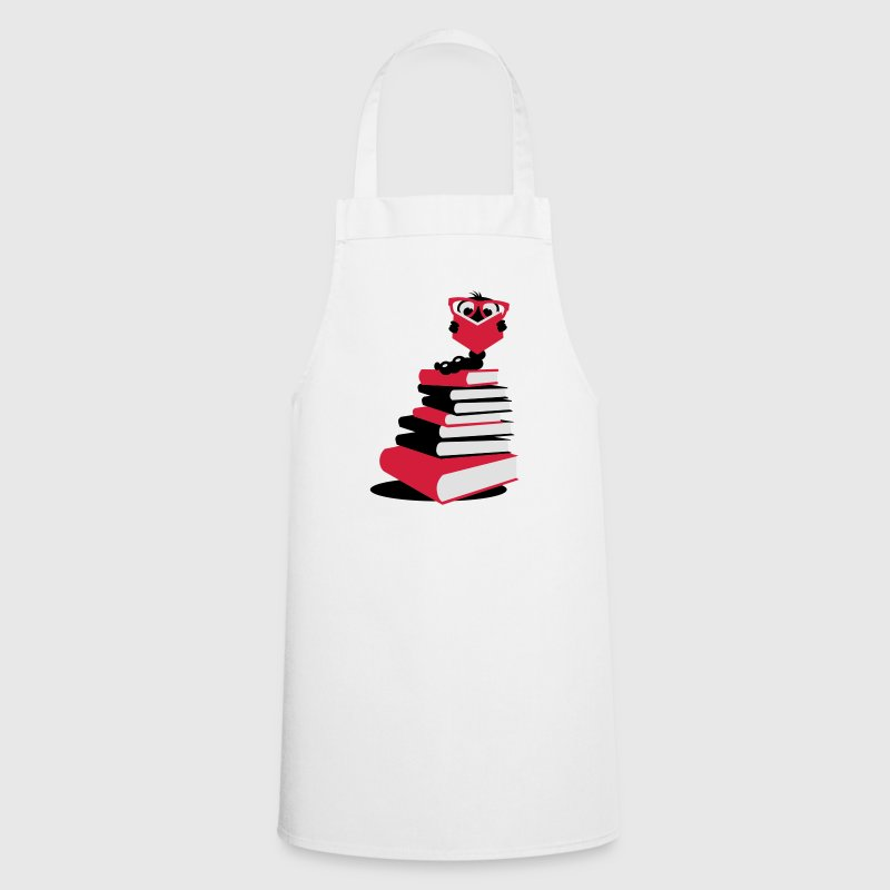 A bookworm reading  Aprons - Cooking Apron