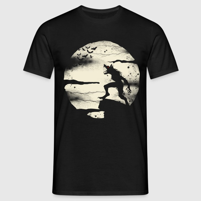 Werewolf With The Full Moon - Men's T-Shirt