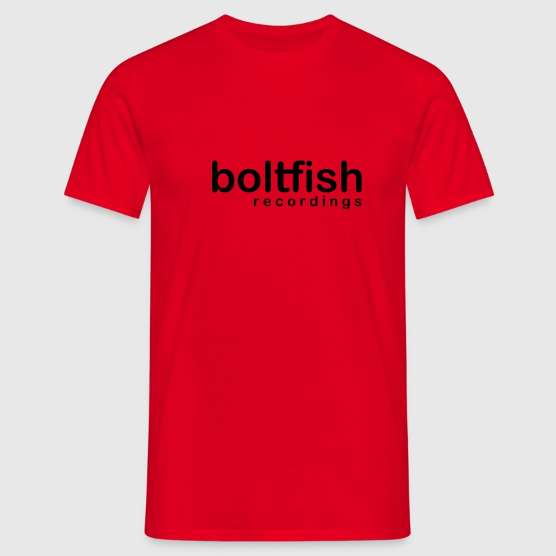 Chocolate/sun Boltfish Recordings Logo Men's T-Shirts - Men's T-Shirt
