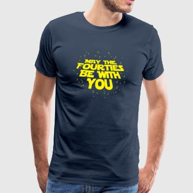 may the fourties be with you- 40. Geburtstag  Sportsbeklædning - Herre premium T-shirt