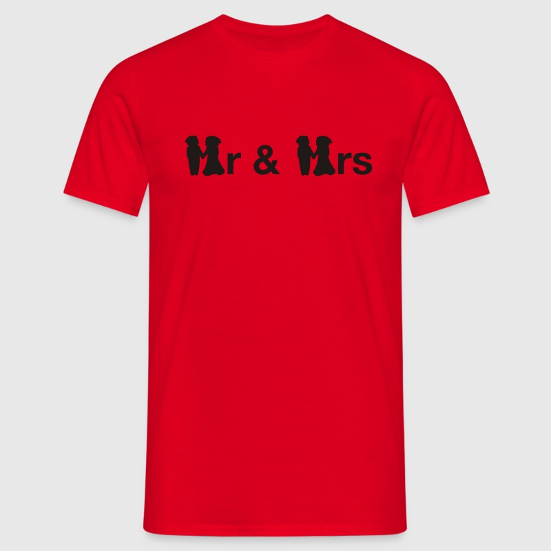 Rot Mr & Mrs T-Shirt - Männer T-Shirt