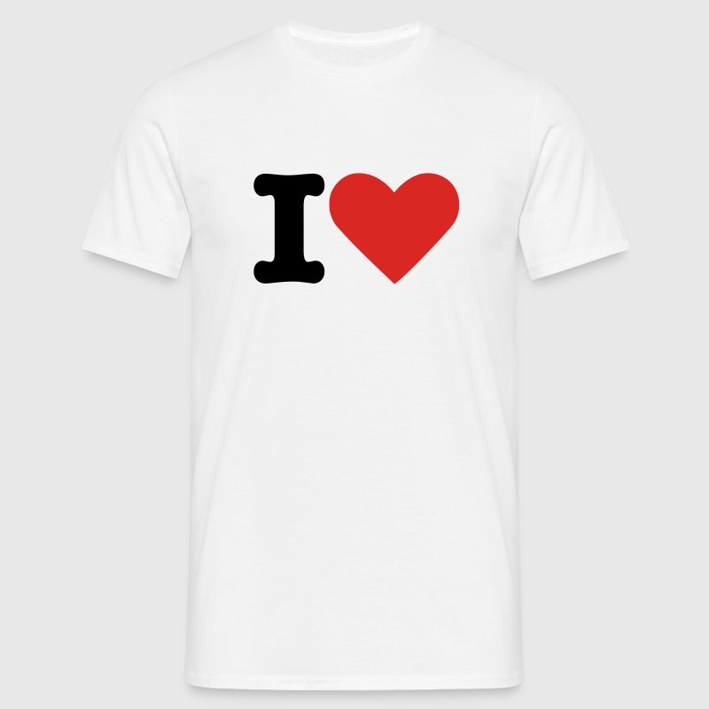 White i love T-Shirts - Men's T-Shirt