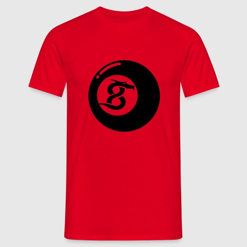 Red 8 Ball Dragon T-Shirts - Men's T-Shirt