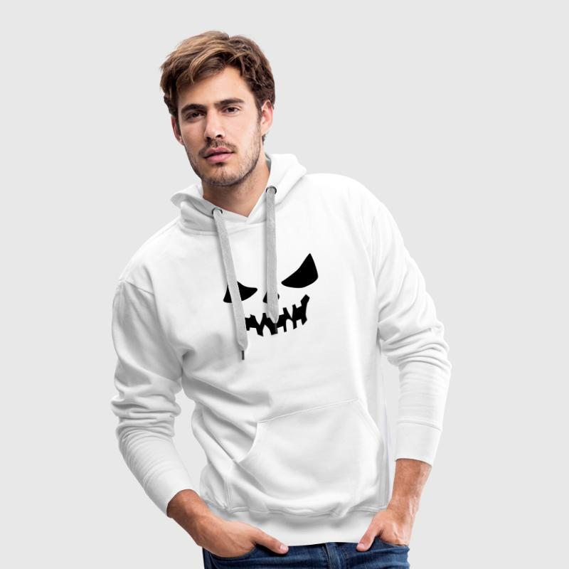 Red scary face Men's Longsleeves - Men's Premium Hoodie