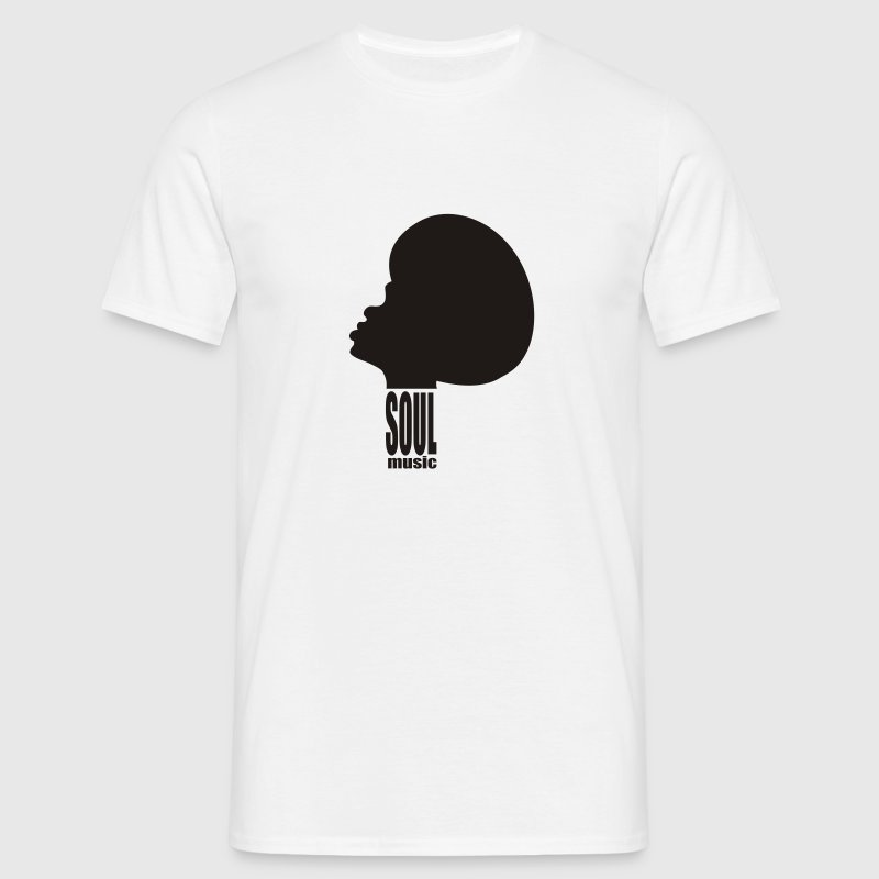 White Soul Music T-Shirts - Men's T-Shirt