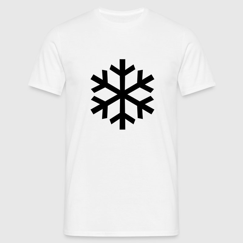 White Snowflake T-Shirts - Men's T-Shirt