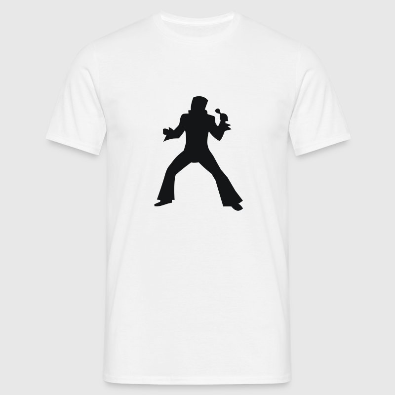 White Elvis T-Shirts - Men's T-Shirt