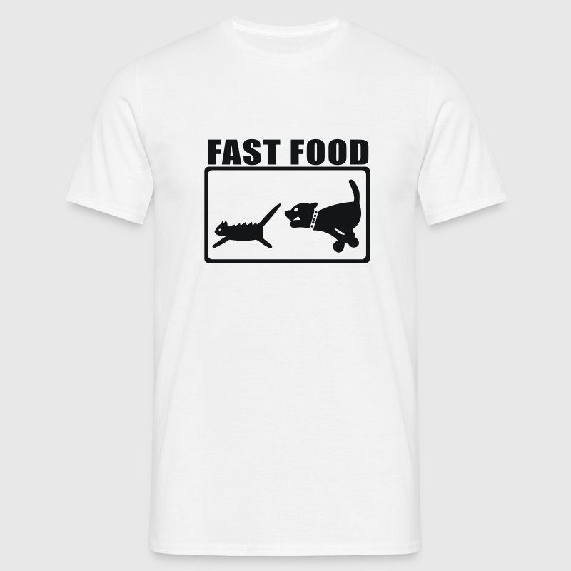 Blanc Fast-food Hommess - T-shirt Homme