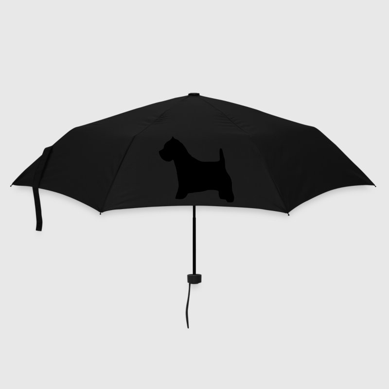 Black westie Umbrellas - Umbrella (small)