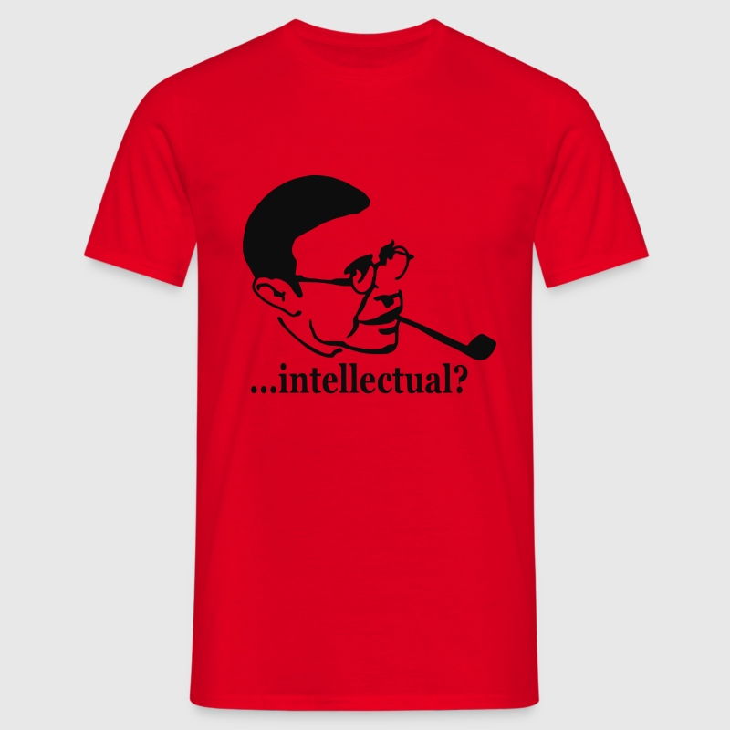 Rot Jean-Paul Sartre - ...intellectual? T-Shirt - Männer T-Shirt