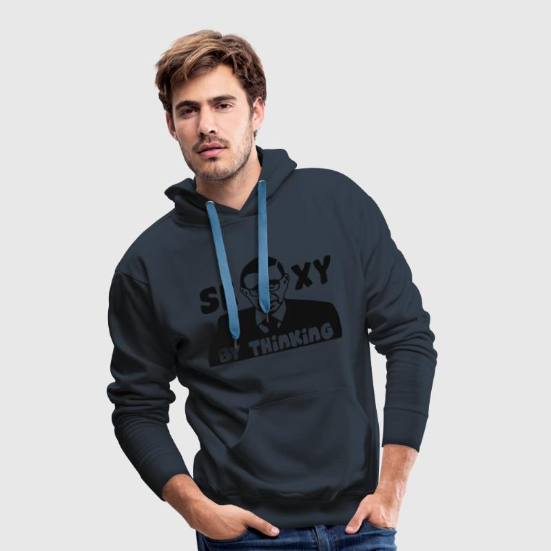 Jean-Paul Sartre - Sexy by thinking - Men's Premium Hoodie