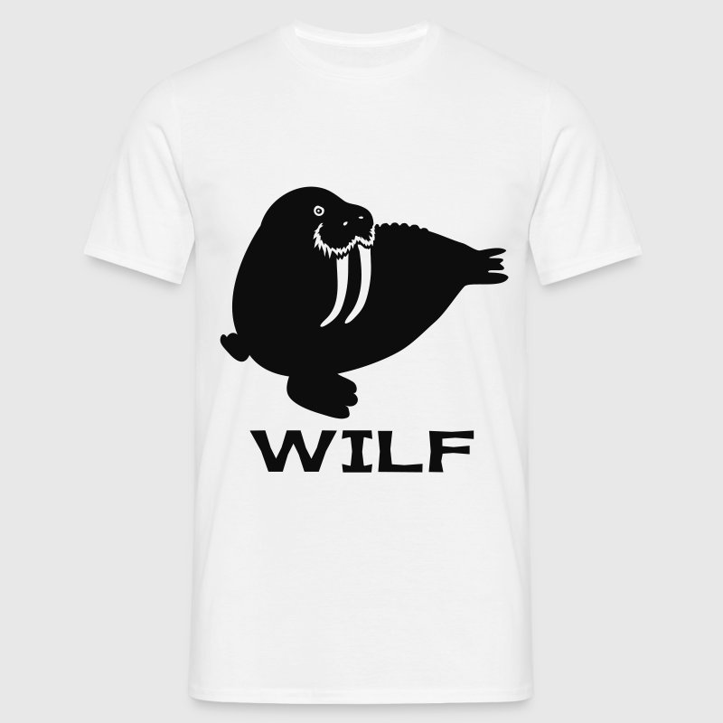 White WILF T-Shirts - Men's T-Shirt