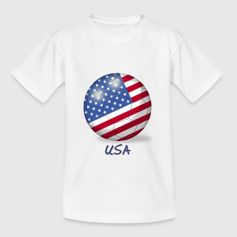 Fussball Amerikanische Flagge - Teenager T-Shirt