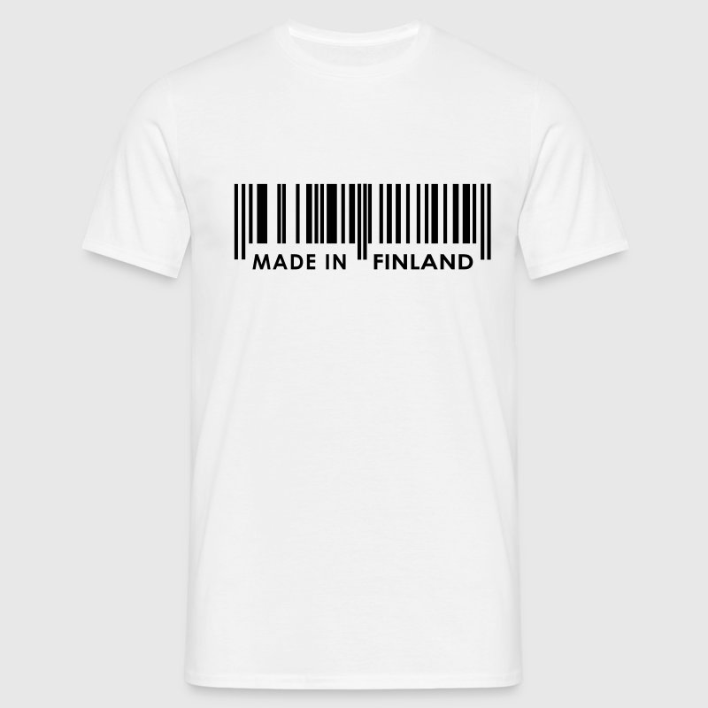 White Bar code Made in Finland T-Shirts - Men's T-Shirt